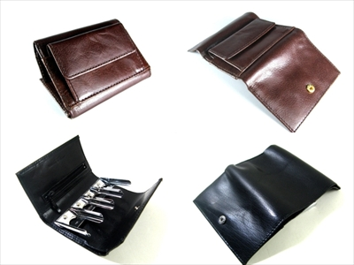 バッファロー 三つ折り財布・コインキャッチャー付き財布