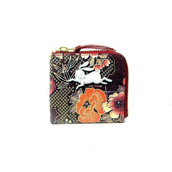 画像1: うさぎ 小銭入れ(札・カード) 江戸美袋 (1)
