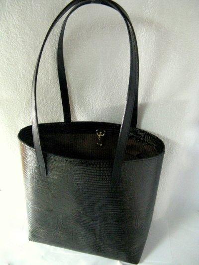 画像1: ヘビ革 ハンドバッグ